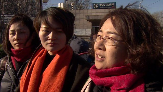 The wives of three detained rights lawyers in China are demanding answers