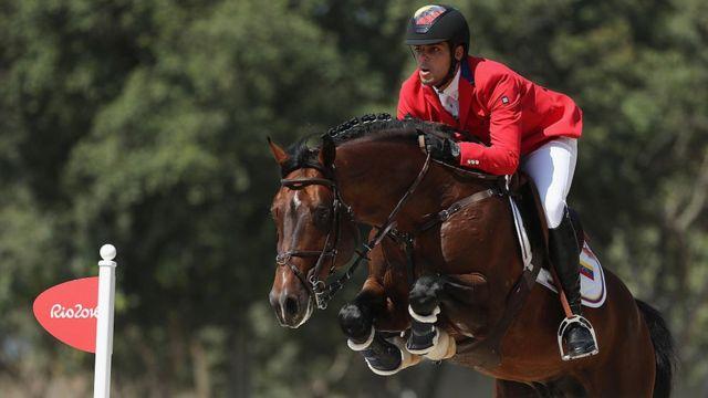 Hardrock Z, uno de los caballos más valiosos que tenía Andrade y con el que compitió su hijo Emanuel durante los Juegos Olímpicos de Río 2016.