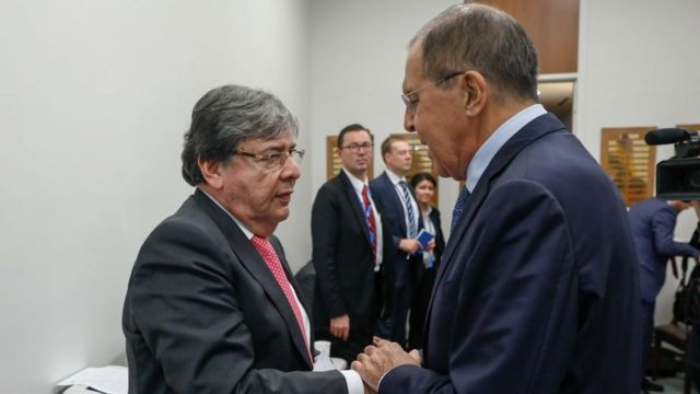 Carlos Holmes Trujillo y Sergei Lavrov