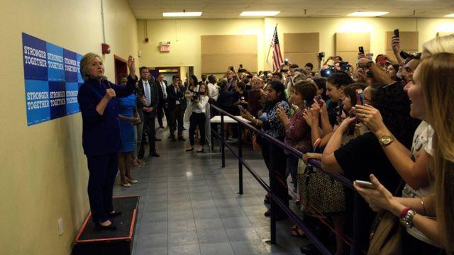 Hillary Clinton em Orlando