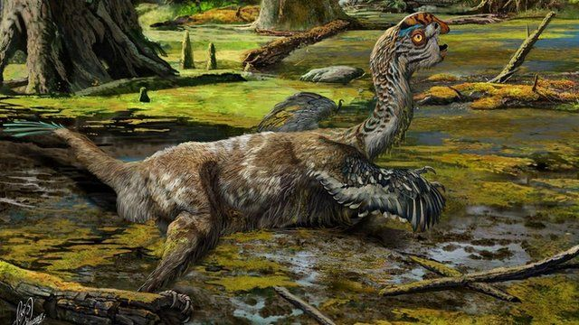 Artist's impression of newly discovered dinosaur Tongtianlong