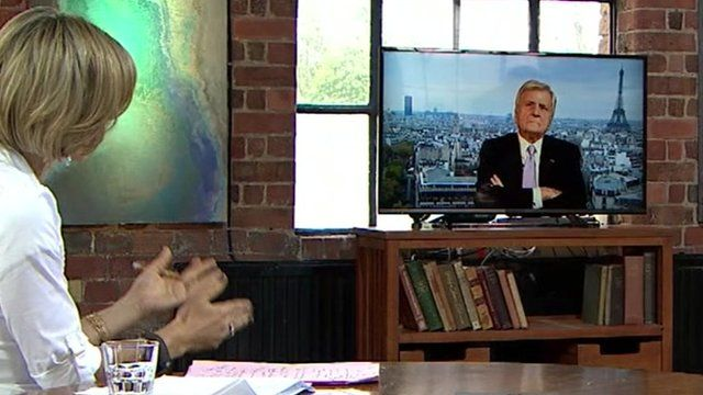 Jean-Claude Trichet talking to Emily Maitlis
