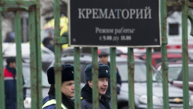 Sarah Rainsford reports from a morgue in St Petersburg where bodies are  being identified