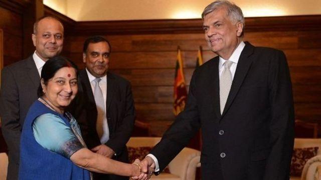 ரணில் மற்றும் சுஸ்மா சுவராஜ்
