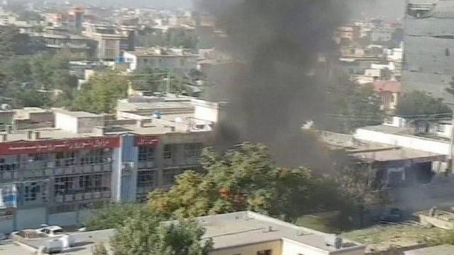 Blast site in Afghan capital - 24 July 2017