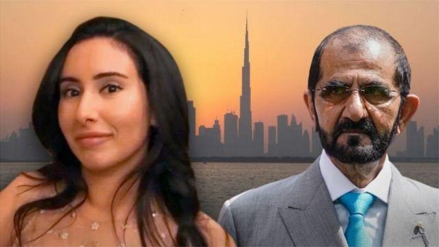 Princess Latifah and her father Sheikh Muhammad bin Rashid Al Maktoum