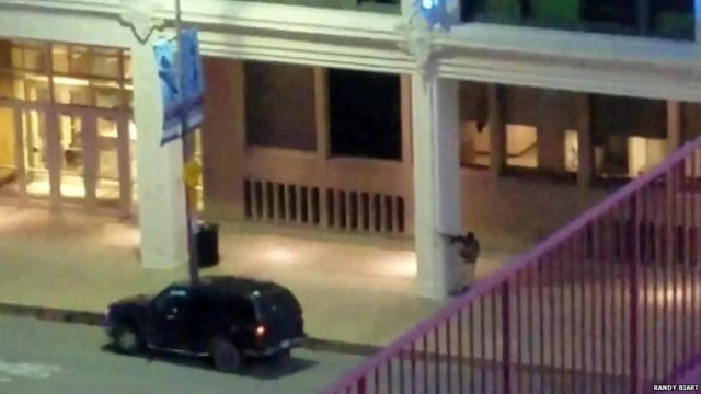 Person filmed shooting - amateur video