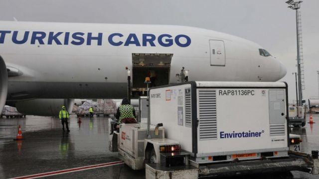 Bir THY uçağı 18 Kasım'da Atatürk Havalimanı'ndan Brezilya'ya Çin yapımı CoronaVac aşısı taşımıştı
