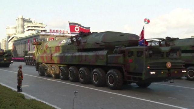 A tank in North Korea.