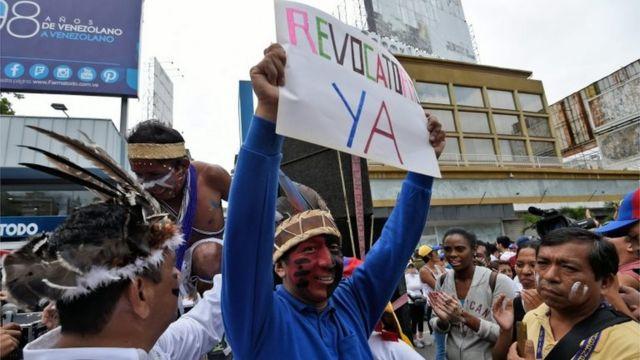Акция протеста оппозиции в Венесуэле