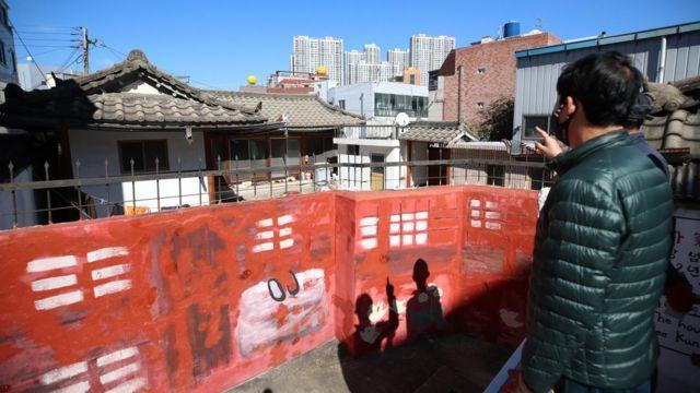 People in Daegu, South Korea, attended Lee Jianxi's former residence (10/25/2020)