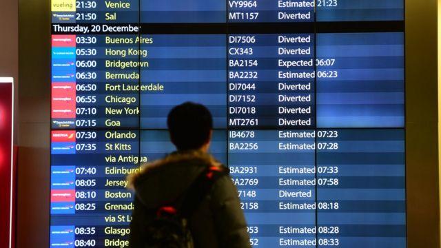 uçuş bilgi ekranı