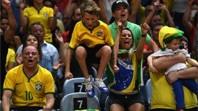 Torcida durante partida na Rio 2016