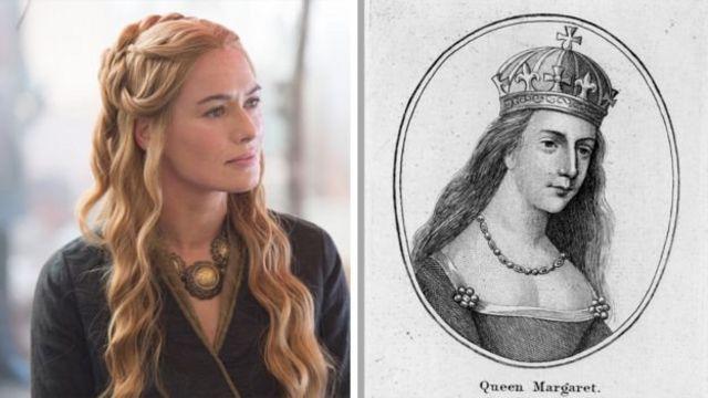 เซอร์ซี แลนนิสเตอร์ มีความคล้ายคลึงกับราชินีมาร์กาเร็ตแห่งอองจู ราชินีของกษัตริย์เฮนรีที่ 6