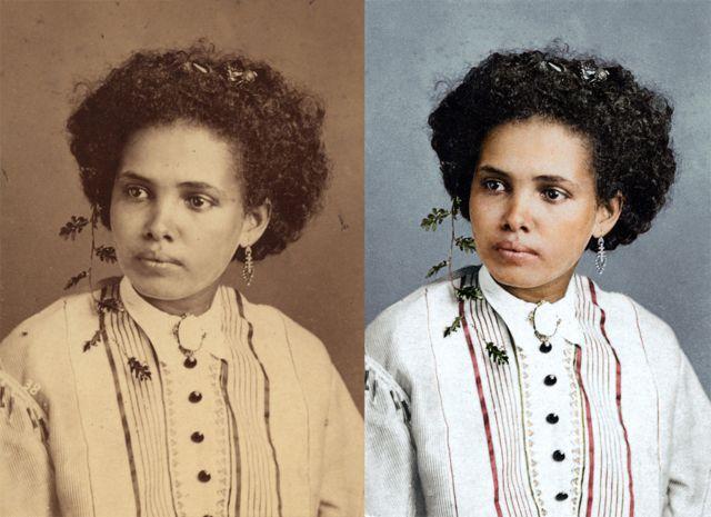 Legenda dizia apena 'moça cafuza', nome que se dava a mestiço de negro e índio
