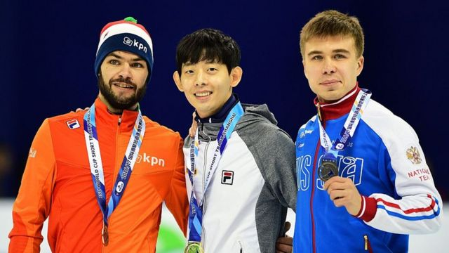 Шинки Кнегт из Нидерландов, кореец Лим Хе Чун и россиянин Семен Елистратов