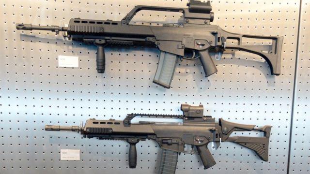 Un rifle G36 de Heckler & Koch