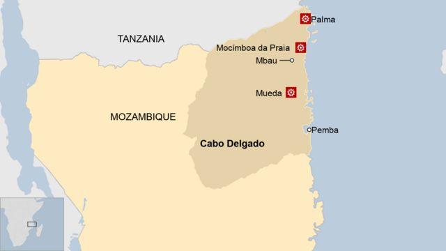 Map of Cabo Delgado