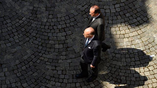 French President, Francois Hollande, and French Interior Minister, Bernard Cazeneuve