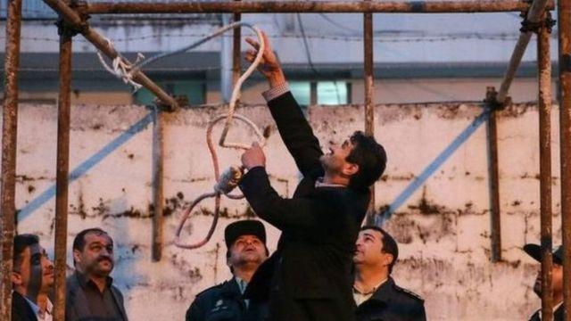 آماده کردن محل اعدام در ایران