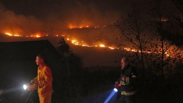 صورة تظهر حريق بإسرائيل