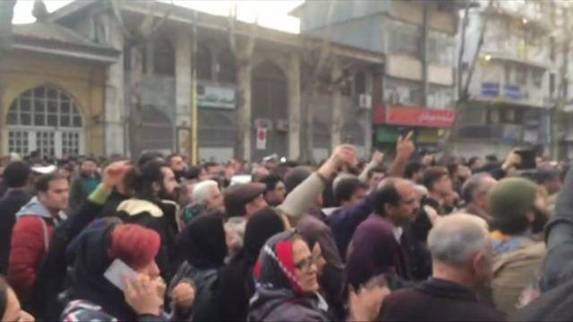 Reşt şehrinde düzenlenen gösteriler