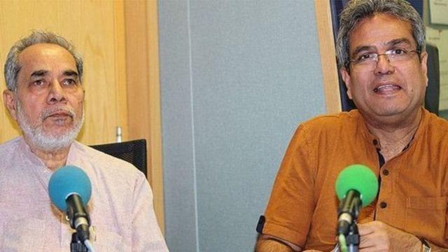 સીનિયર પત્રકાર રામ બહાદુર રાય અને રેહાન ફઝલનો ફોટોગ્રાફ