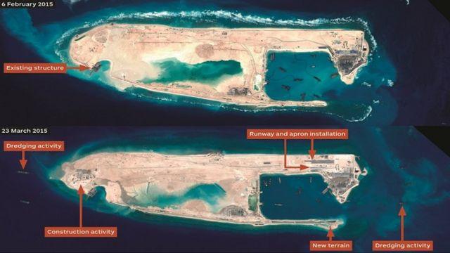 South China Sea: US warship sails near disputed reef