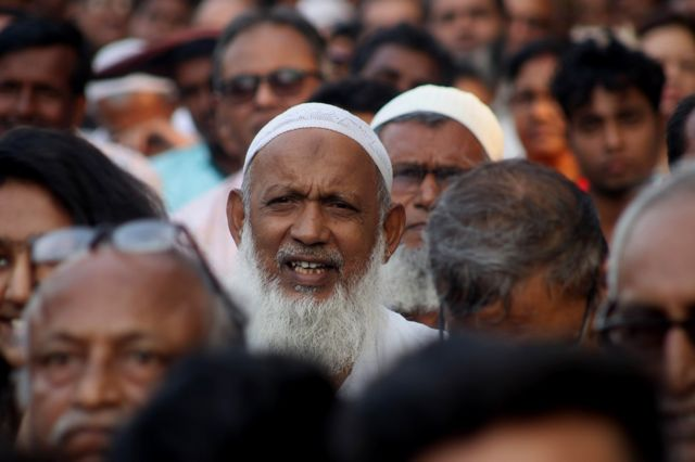Members of the Muslim minority in the Indian state of Assam