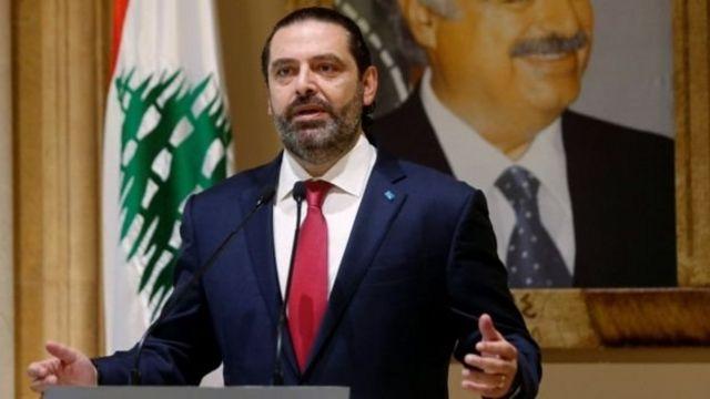 Hariri mengurumkan pengunduran diri lewat pidato di televisi.
