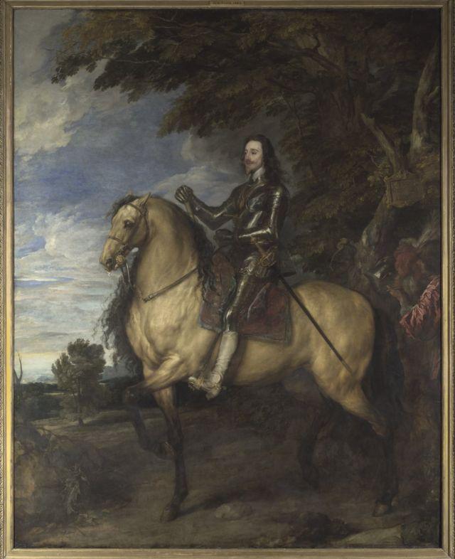 El enorme retrato ecuestre de Carlos I, de Van Dyck