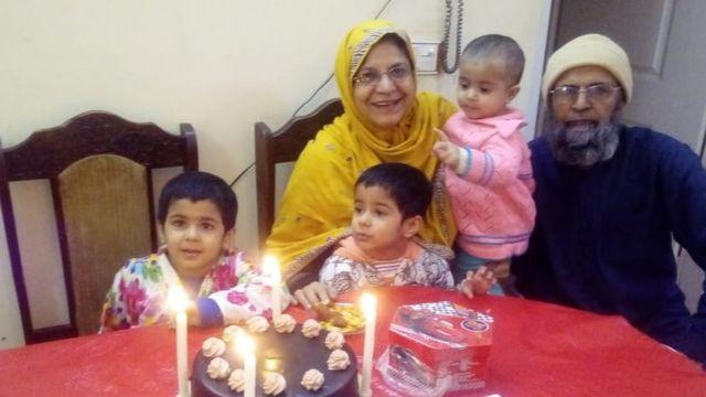 Ghulam Husain, Karam Bibi and their grandchildren