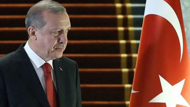 Erdogan ayaa xaqiijiyay in uu la dagaallamayo Taalibaan