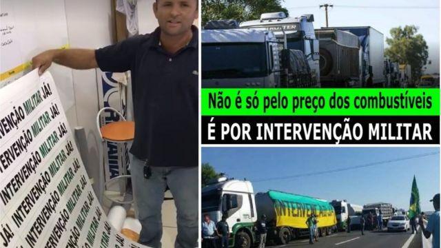 intervenção militar e greve dos caminhoneiros