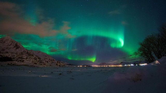Auroras boreales en Noruega.