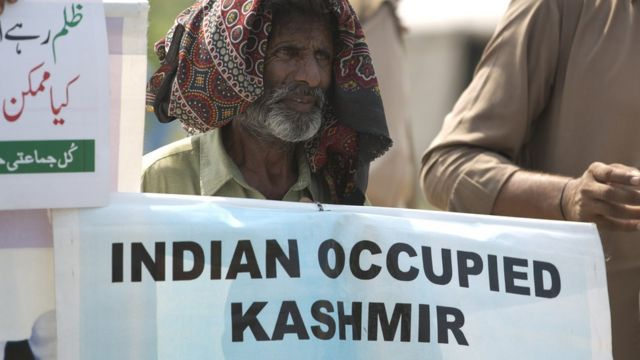Protest against India in Kashmir