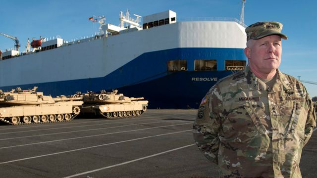 US tanks arrive in Germany to help Nato defences