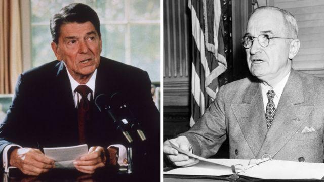 Ronald Reagan y Harry Truman