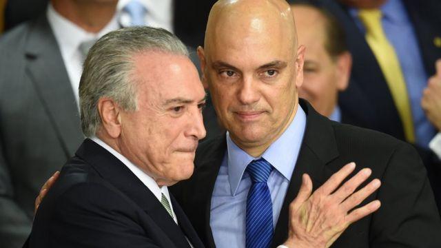 Michel Temer e Alexandre de Moraes