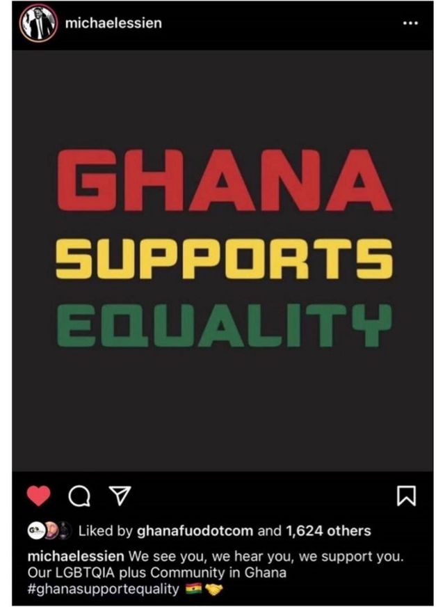 Di Instagram post wey cause Ghana pipo t para