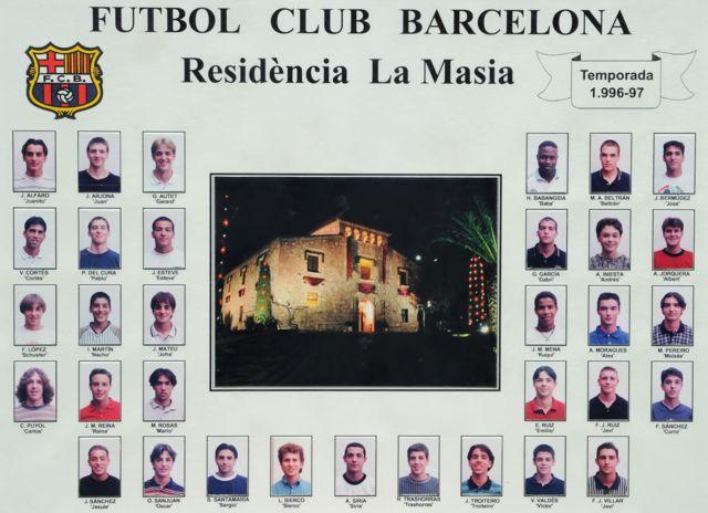 Jugadores de la cantera del Barcelona en 1996-1997