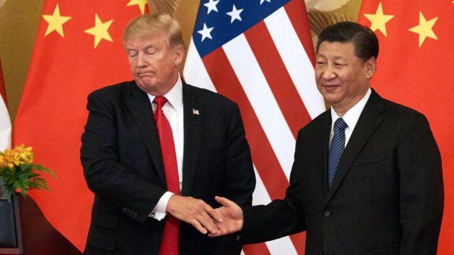 شی جینپینگ و دونالد ترامپ