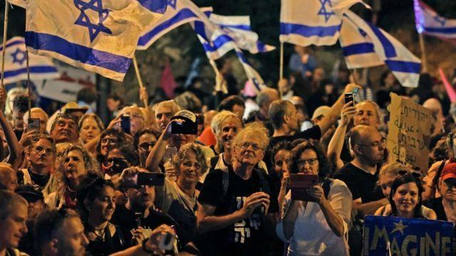 Celebraciones en Israel por el nuevo gobierno.