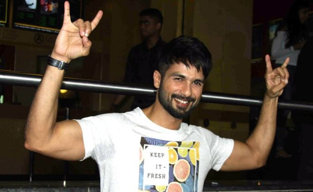 Indian Bollywood Actor Shahid Kapoor poses for a photograph during a promotional event for the forthcoming Hindi film 'Udta Punjab' in Mumbai on late June 17, 2016.