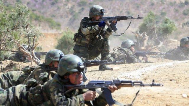 نیروهای ویژه کره شمالی در حال آموزش های نظامی