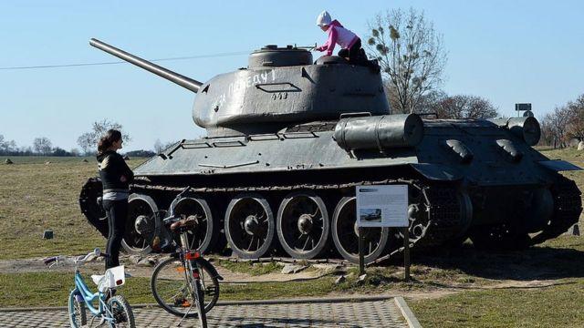 Советский танк. Польша