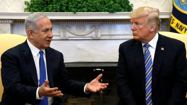 Benjamin Netanyahu da Donald Trump