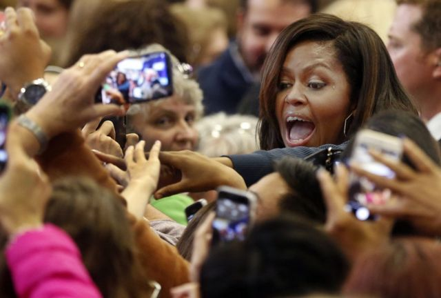 Michelle Obama, la primera dama de Estados Unidos, entre el público.
