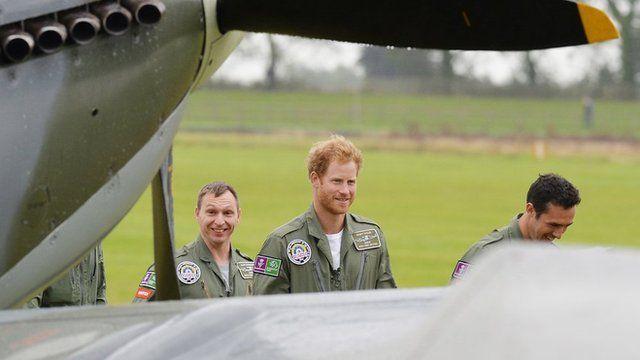 Prince Harry at Goodwood Aerodrome