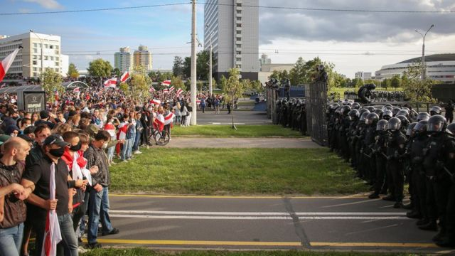 Minsk'te Lukaşenko karşıtı gösteriler